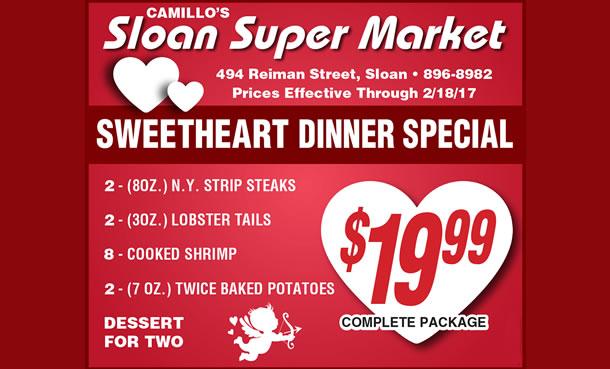 talkin thanksgiving meatballs turducken at camillos sloan super market as featured in buffalo news read the artice click here - Valentine Dinner Specials
